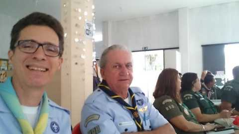 Chefes Ricardo Bueno e Lucari, representando o 193º/MG - GEARWB