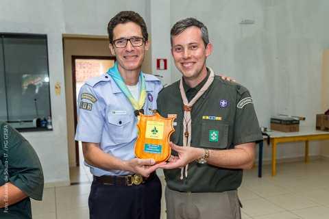 GEARWB 193º/MG Recebendo  Troféu de Grupo Padrão em reconhecimento pelo esforço na abertura da nova UEL.